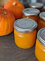 Pumpkin jam and pumpkins.jpg