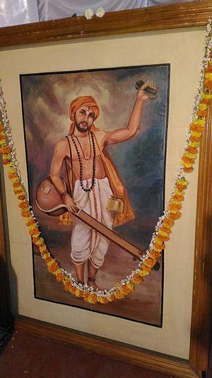 Purandara Dasa - An oil painting of Purandara Dasa. Painter: Pallava Narayanan