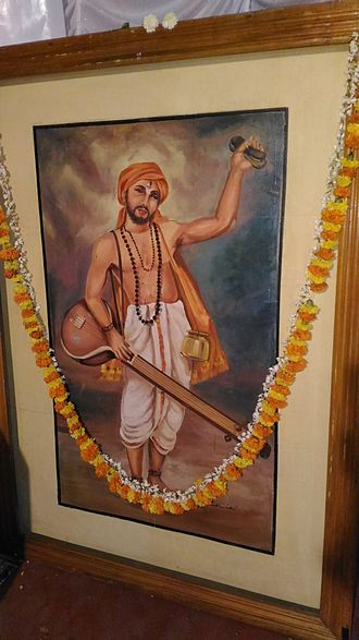 Purandara Dasa - An oil painting of Purandara Dasa. Painter: Pallava Narayanan