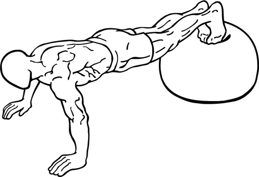 Push-up-with-feet-on-an-exercise-ball-1