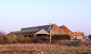 London Co-operative Society - Former London Co-operative Society creamery and railhead for milk trains at Puxton, Somerset on the Bristol to Exeter line