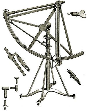 Mannheim Observatory -  A quadrant by Canivet, as bought in Paris by Mayer