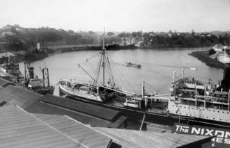 Petrie Bight - Petrie Bight (prior to the construction of the Story Bridge), June 1927