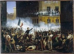 Révolution de 1830 - Combat de la rue de Rohan - 29.07.1830.jpg