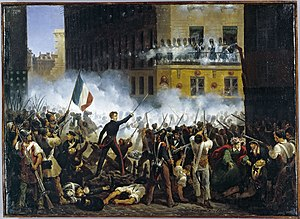 Revolutions of 1830 - Depiction of the fighting in Paris during the French Revolution of 1830