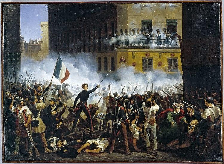 Révolution de 1830 - Combat de la rue de Rohan - 29.07.1830