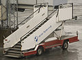 Røros Flyservice mobile stairs at Værnes.jpg