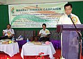 R.K. Ragaisin addressing the gathering on the last day of the Bharat Nirman Public Information Campaign, organised by PIB Imphal, at Tamenglong on September 13, 2013.jpg