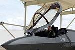 RAAF pilot performs pre-flight checks in a RAAF F-35A Lightning II at Luke Air Force Base May 14, 2015.JPG