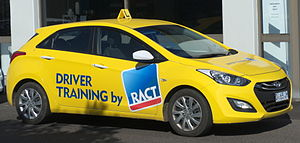 Driver's education - Instructional vehicles are personal cars of the driving instructor which have been painted with the company logo