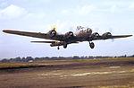 RAF Bury St Edmunds - 94th Bombardment Group - B-17 taking off.jpg