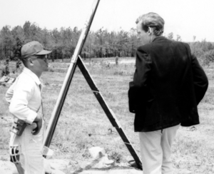 Robert C. Michelson - Michelson as a youth (right) discussing the imminent launch of his Ft. Sill Alpha rocket with a Camp Pickett Army Technician.