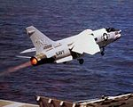 RF-8G of VFP-63 launching from USS Coral Sea (CV-43) 1977.jpg