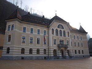 Politics of Liechtenstein - Government Building in Vaduz