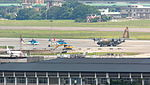 ROCAF Aircrafts at Songshan AFB Apron before Military Review 20120707a.jpg