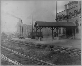 Alton, Illinois - Railroad station in Alton, 1925
