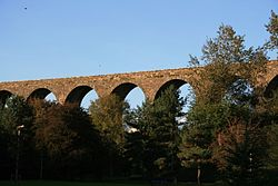 The railway viaduct in Kilmacthomas