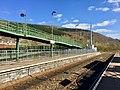 Railway line and footbridge (geograph 6101915).jpg