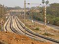 Railway line towards Visakhapatnam Port at Marripalem.jpg