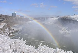 Rainbow seen from Horseshoe Falls looking toward Rainbow Bridge in winter.jpg