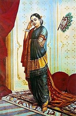 Raja Ravi Varma, Vasanthasena (Oleographic print).jpg