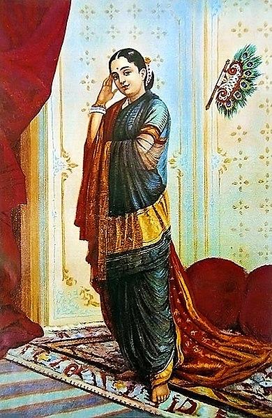 File:Raja Ravi Varma, Vasanthasena (Oleographic print).jpg
