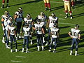 Rams in huddle at St. Louis at SF 11-16-08.JPG