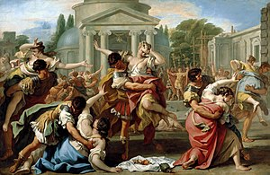 1703 in art - Image: Rape of the Sabine Women by Sebastiano Ricci
