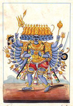 Lukisan Sang Rawana, Raja rakshasa dari Kerajaan Alengka