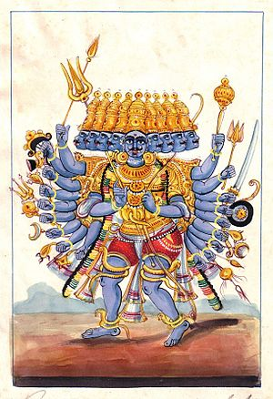 Ravana the leader of the Raksha of Sri Lanka