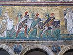 Ravenna, sant'apollinare nuovo, int., santi magi offerenti, epoca del vescovo agnello, 01.JPG