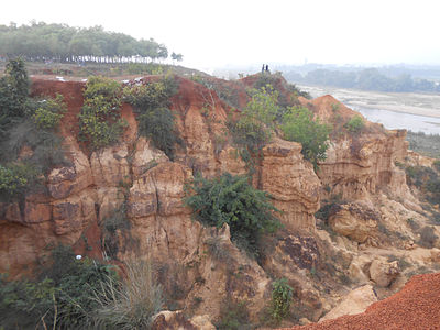 Ravines on the banks of Shilabati