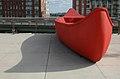 Red canoe in Toronto park.jpg