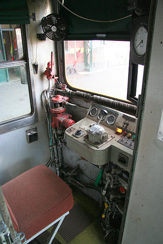 Redhen railcar - Cab of 402 at the South Gippsland Railway