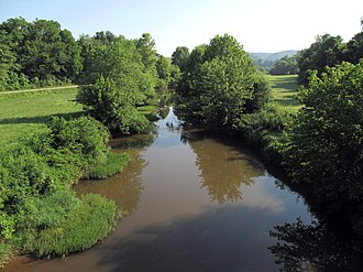 Reedy Creek (West Virginia) - Reedy Creek in Wirt County in 2010