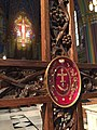 Relic of the true cross in a cross at Cathedral SLC UT.jpg