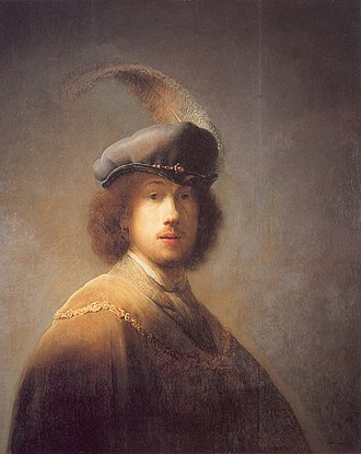 Self-Portrait Wearing a White Feathered Bonnet - Image: Rembrandt van Rijn 198