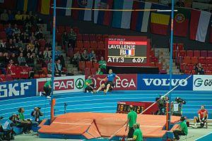 2013 European Athletics Indoor Championships – Men's pole vault - Image: Renaud Lavillenie Göteborg 2013
