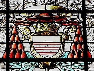Robert Guibé - Coat of arms of Cardinal Robert Guibé in Rennes Cathedral.