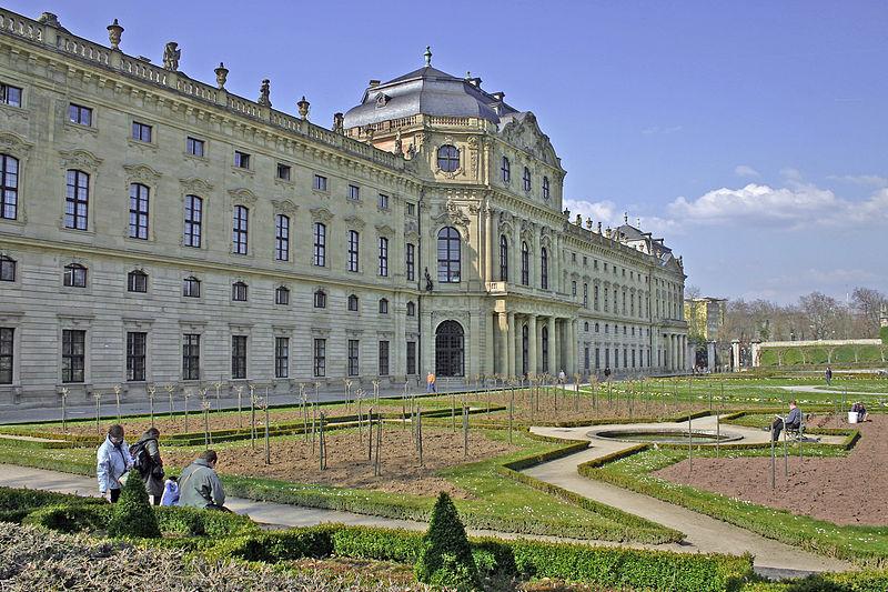 Residenz in Würzburg mit Hofgarten