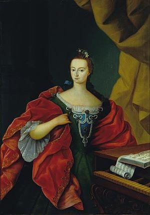 Infanta Maria Ana Francisca of Portugal - Portrait by Vieira Lusitano
