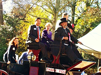 Christine O'Donnell - O'Donnell (far left) at a 2006 parade in Georgetown, Delaware, with Senator Tom Carper and other candidates