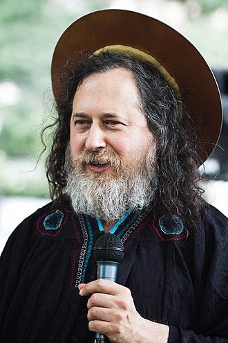 Emacs - Richard Stallman as St IGNUcius, a saint in the Church of Emacs