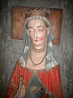 Richardis of Schwerin, Queen of Sweden - Queen Richardis as sculpted on Albert's grave