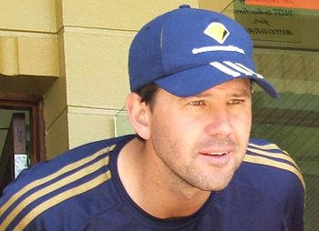 Ricky Ponting at a training session at the Ade...