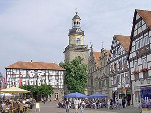 Rinteln - Image: Rinteln Marktplatz