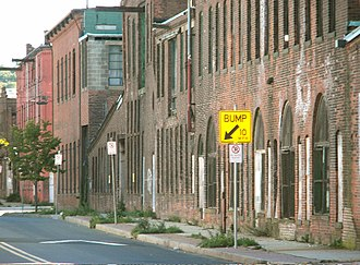 Fair Haven, New Haven - Factory buildings on River Street