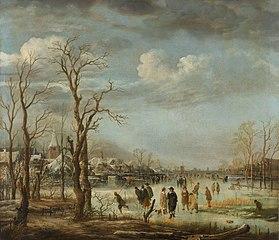 Vue sur la rivière en hiver