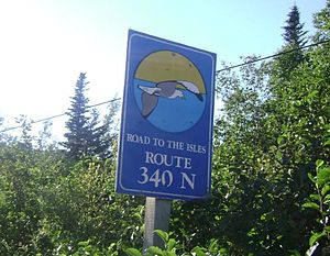 Newfoundland and Labrador Route 340 - NL Route 340 road sign