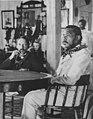 Robert Louis Stevenson and Kalakaua in the King's boathouse (PP-96-14-008).jpg